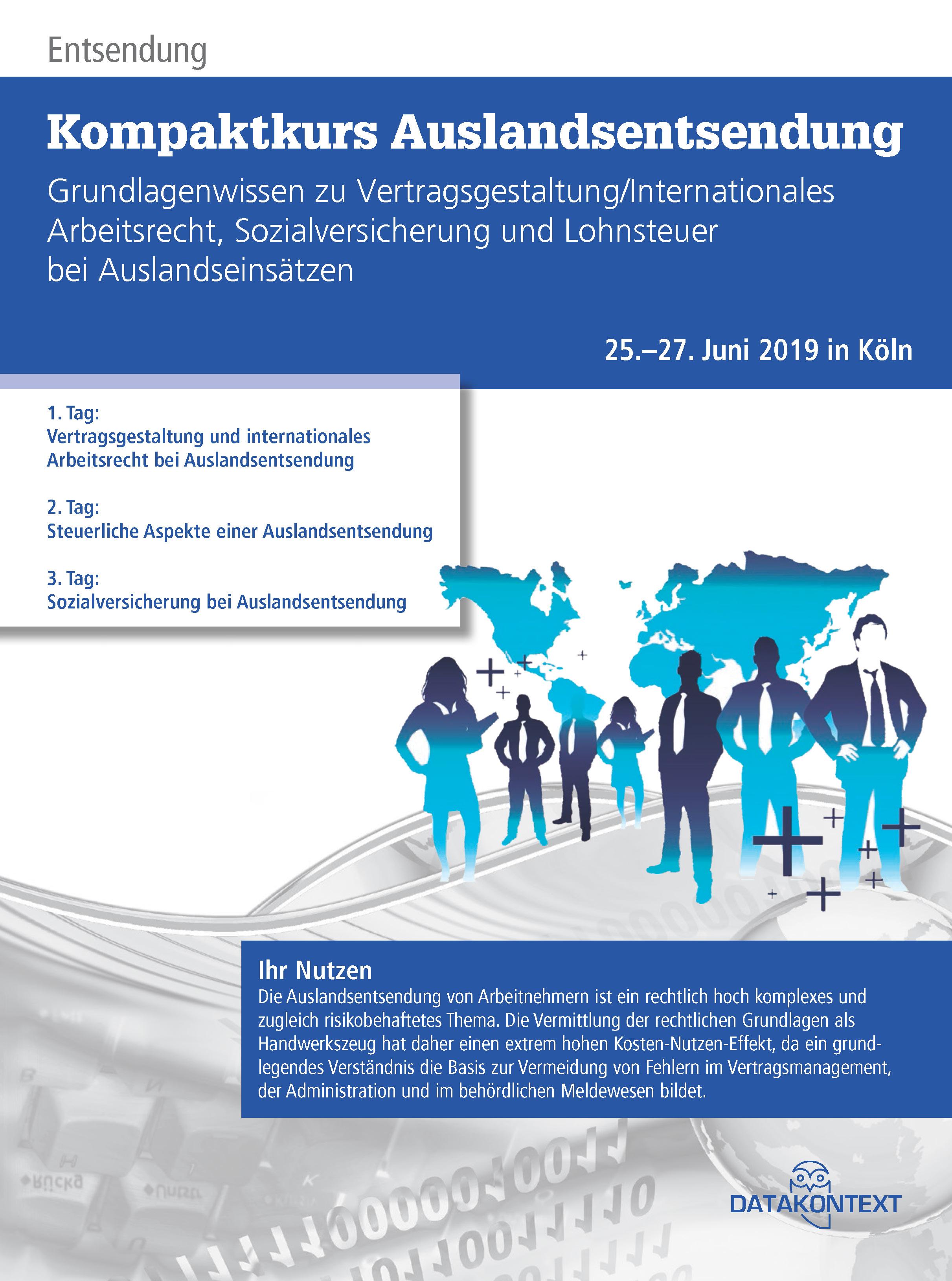 Vertragsgestaltung und internationales Arbeitsrecht bei Auslandsentsendung